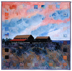 Barn at Sunset quilt